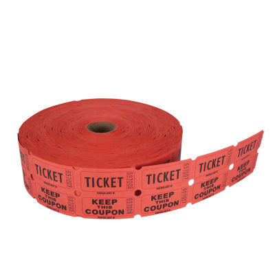 Creative Converting Ticket Roll - 50/50 Red/Bl/Or/Gr 20 ct