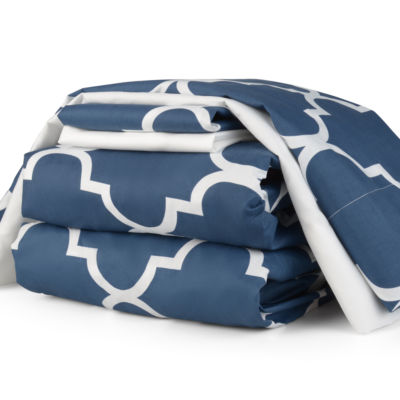 Journee Home Wrinkle Free Printed 6-pc Sheet Set