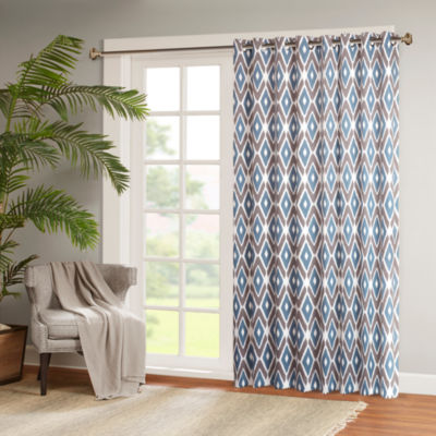 Madison Park Stetsen Diamond-Printed Grommet-Top Patio Panel