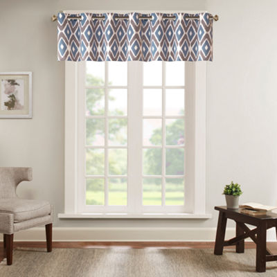 Madison Park Stetsen Diamond-Printed Valance