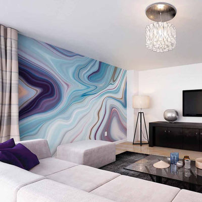 Brewster Wall Marbled Ink Wall Mural 6-pc. Wall Murals