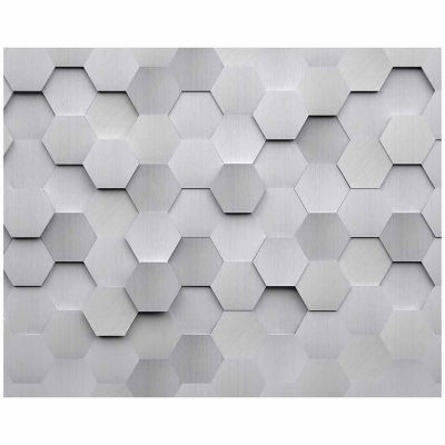 Brewster Wall Metal Hexagons Wall Mural 6-pc. Wall Murals