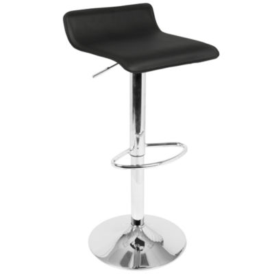Ale Contemporary Adjustable Barstools with Footrest by LumiSource - Set of 2