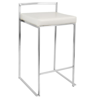 Fuji Stackable Contemporary Counter Stools - Set of 2 by LumiSource