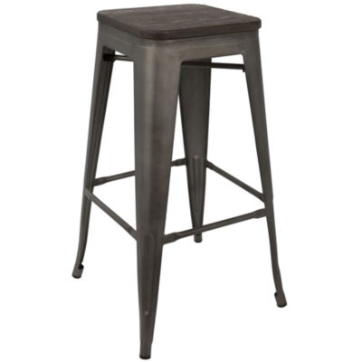 Oregon Stackable Industrial Barstools - Set of 2 by LumiSource
