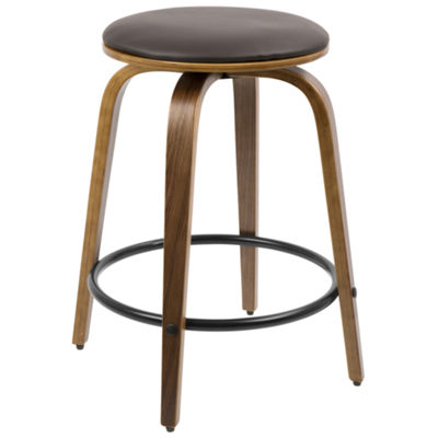 Porto Mid-Century Modern Counter Stools with Swivel - Set of 2 by LumiSource