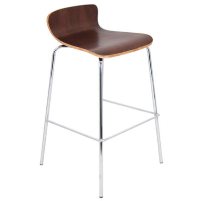 Woodstacker Stackable Contemporary Barstools - Set of 2 by LumiSource