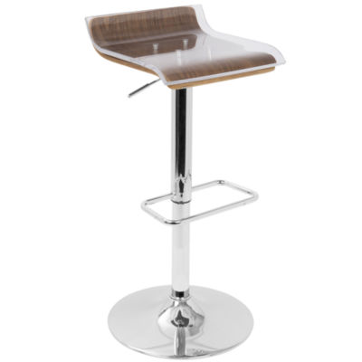 2-Tier Contemporary Barstool with Swivel by LumiSource
