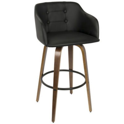 Bruno Mid-Century Modern Barstool with Swivel by LumiSource