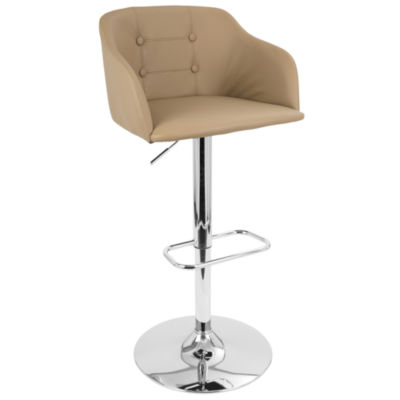 Campania Height Adjustable Mid-Century Modern Barstool with Swivel by LumiSource