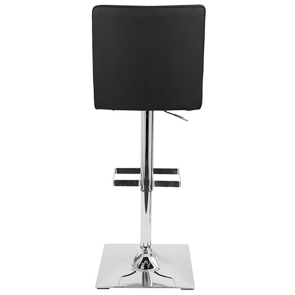 Captain Height Adjustable Contemporary Barstool with Swivel by LumiSource