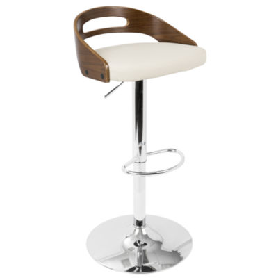 Cassis Mid-Century Modern Height Adjustable Barstool With Swivel by LumiSource