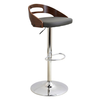 Cassis Height Adjustable Mid-Century Modern Barstool with Swivel by LumiSource
