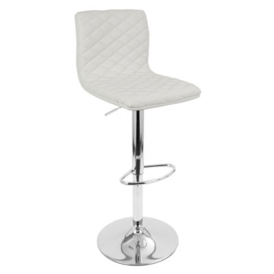 Caviar Height Adjustable Contemporary Barstool with Swivel by LumiSource