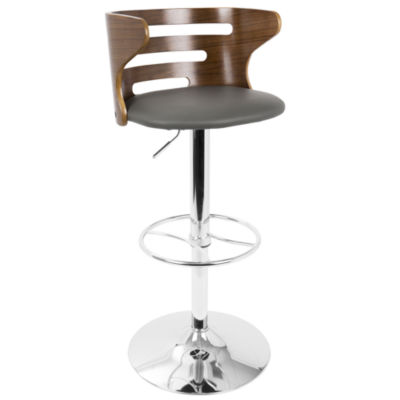 Cosi Mid-Century Modern Adjustable Barstool with Swivel by LumiSource