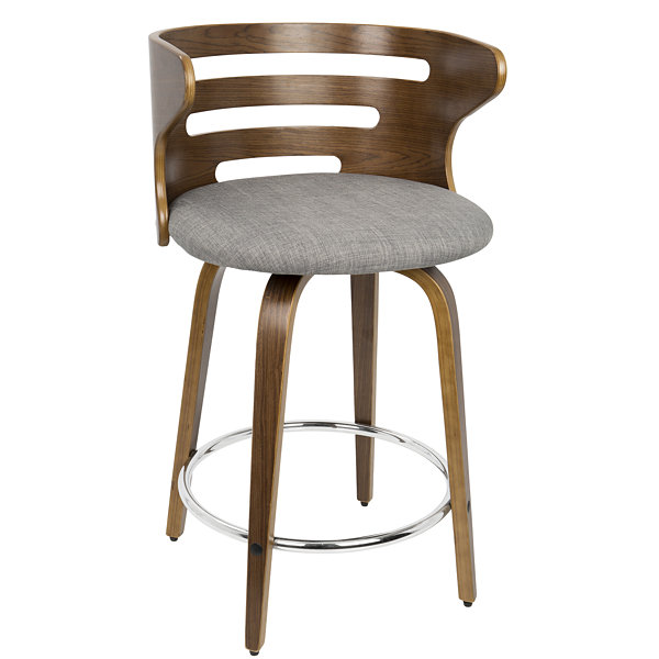 Cosini Mid-Century Modern Counter Stool with Swivel by LumiSource