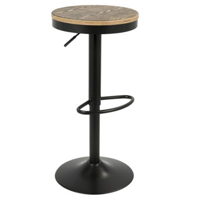 Dakota Height Adjustable Contemporary Barstool with Swivel by LumiSource