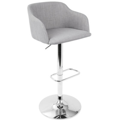 Daniella Contemporary Height Adjustable Barstool by LumiSource
