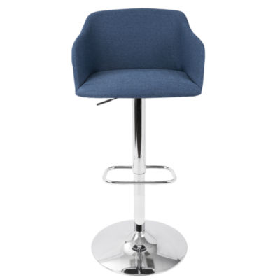 Daniella Contemporary Height Adjustable Barstool with Swivel by LumiSource
