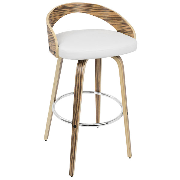 Grotto Mid-Century Modern Barstool by LumiSource