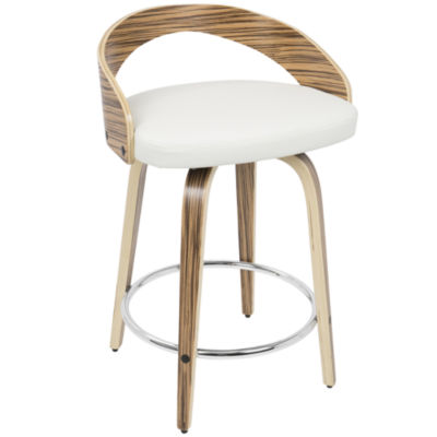 Grotto Mid-Century Modern Counter Stool by LumiSource