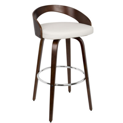 Grotto Mid-Century Modern Barstool with Swivel by LumiSource