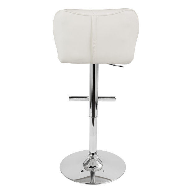 Jubilee Height Adjustable Contemporary Barstool with Swivel by LumiSource
