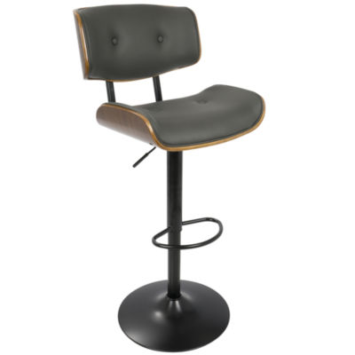 Lombardi Mid-Century Modern Adjustable Barstool byLumiSource
