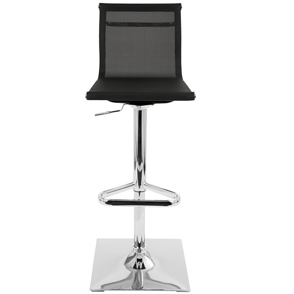 Mirage Height Adjustable Contemporary Barstool with Swivel by LumiSource