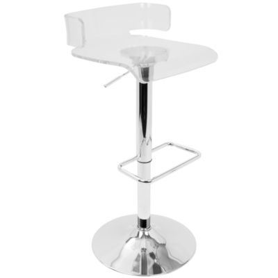 Pride Contemporary Adjustable Barstool by LumiSource