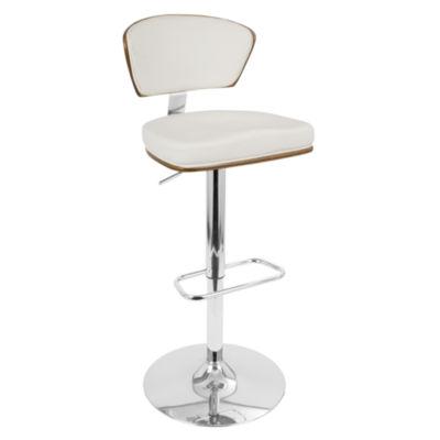 Ravinia Height Adjustable Mid-Century Modern Barstool with Swivel by LumiSource