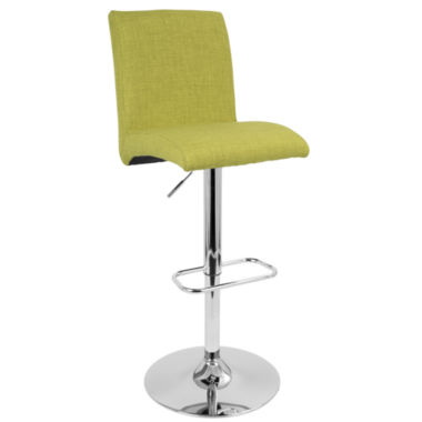 Tintori Height Adjustable Contemporary Barstool with Swivel by LumiSource