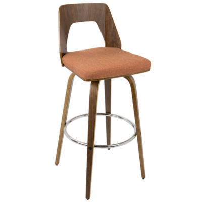 "Trilogy 30"" Fixed Height Mid-Century Modern Barstool by LumiSource"""