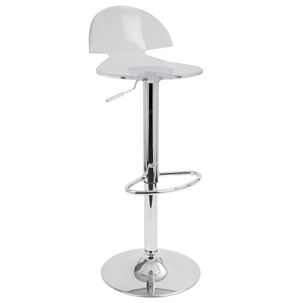 Venti Height Adjustable Contemporary Barstool with Swivel by LumiSource