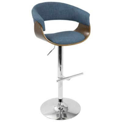 Vintage Mod Mid-Century Modern Adjustable Barstool with Swivel by Lumi Source