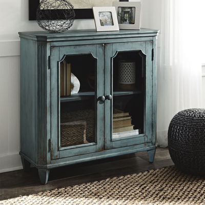 Signature Design by Ashley® Mirimyn Storage End Table with Two Glass Doors