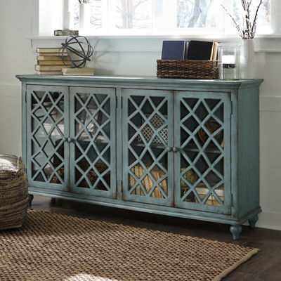 Signature Design by Ashley® Mirimyn Storage End Table with Four Lattice Doors