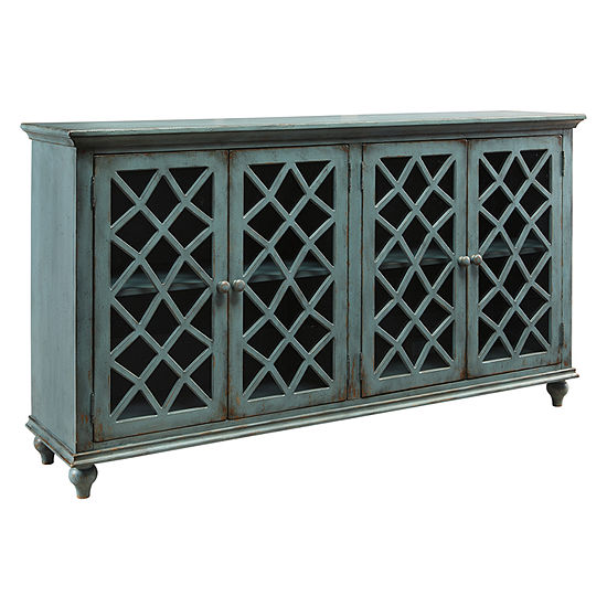 Signature Design by Ashley® Mirimyn Storage Accent Cabinet with Four Lattice Doors
