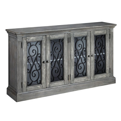 Signature Design by Ashley® Mirimyn Storage End Table with Scrollwork Doors