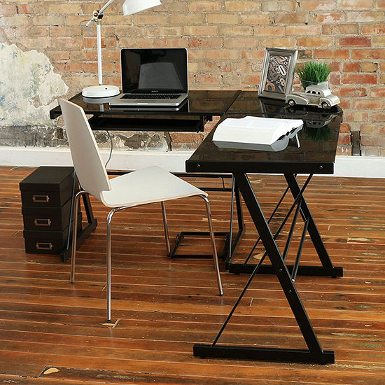 Home Office L-Shaped Corner Computer Desk