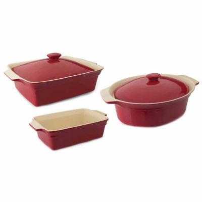 Geminis Bakeware Set 5pc: Cov Rect, Cov Oval & Rect