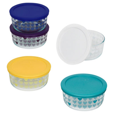 Pyrex 10-pc. Hearts Storage Set