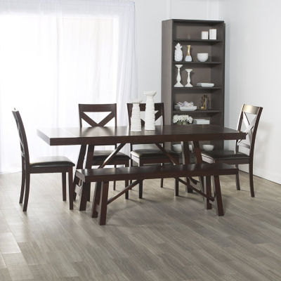 6-pc. Solid Wood Trestle Style Dining Set