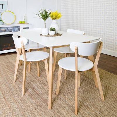 5-pc. Retro Modern Wood Kitchen Dining Set