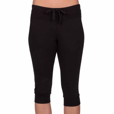 Jockey Mid Rise Drawstring Waist Workout Capris