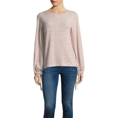 a.n.a Brushed Knit Tie Sleeve Top