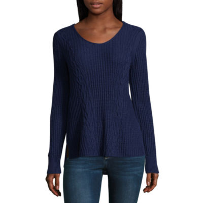 St. John's Bay Vneck Pullover Sweater Long Sleeve V Neck Pullover Sweater