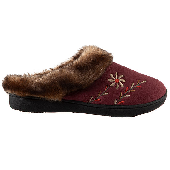 Isotoner Microsuede Clog Slippers with 360 Memory Foam