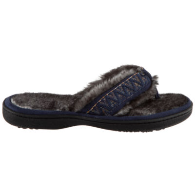 Isotoner Microsuede Thong Slippers