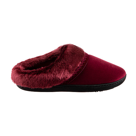 7f072c6f5f8 Isotoner Velour Hoodback Slippers with 360 Memory Foam - JCPenney